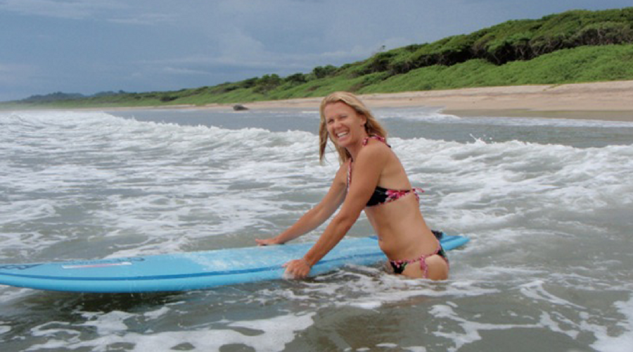 longboarding in playa grande