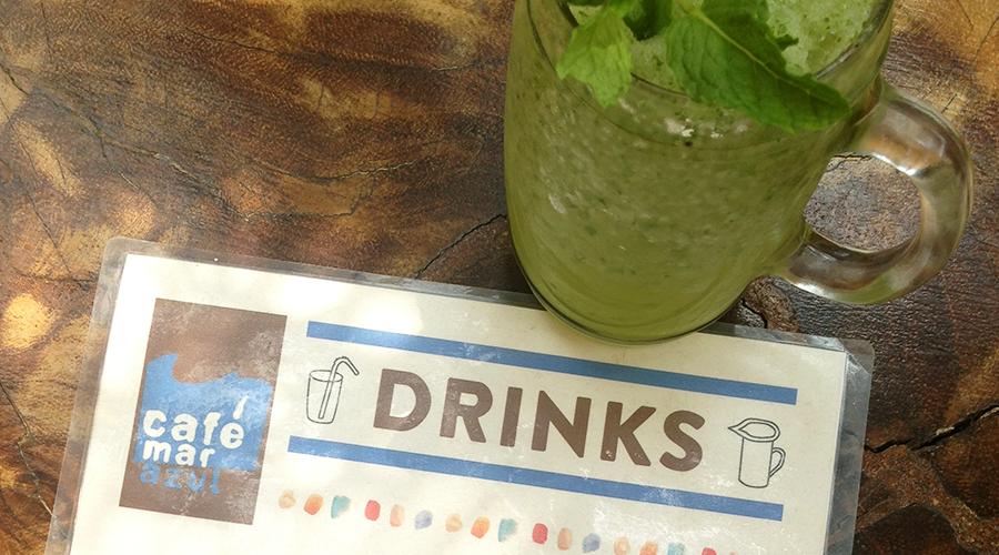 Mint Lemonade at Cafe Mar Azul