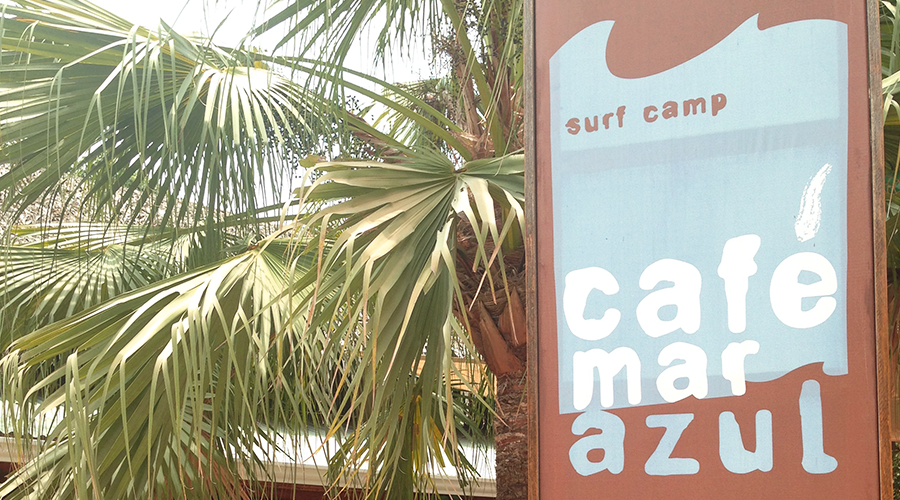 Cafe Mar Azul Sign