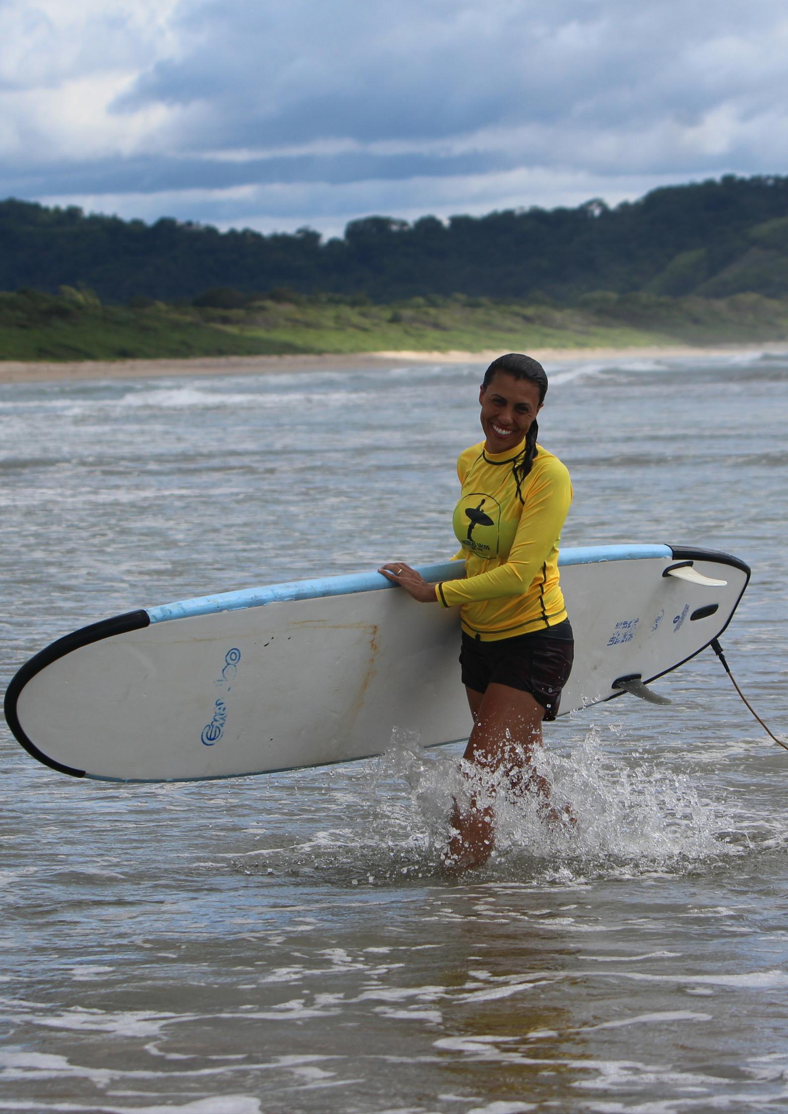 surfer girl playa grande costa rica