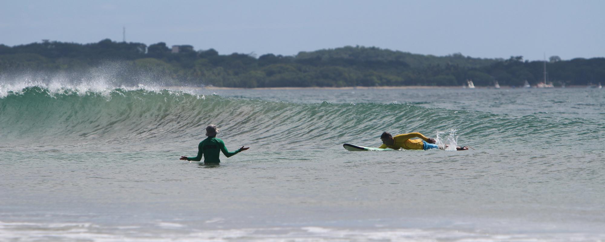 surfing near playa grande